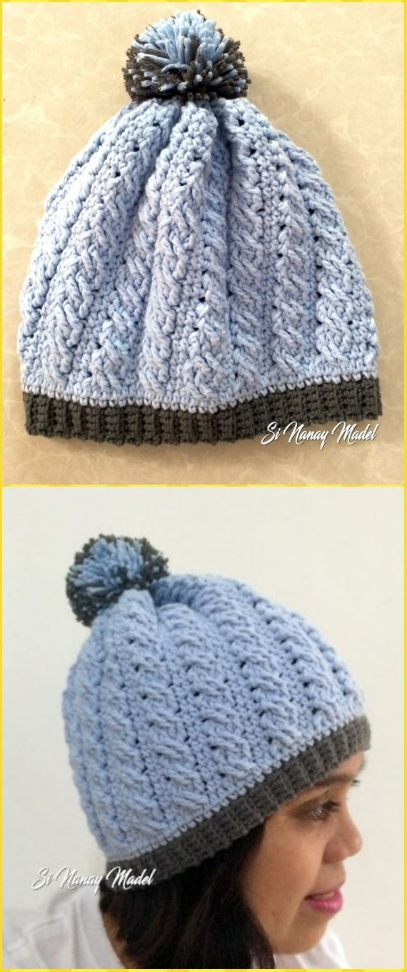 Crochet Cable Braid Stitch Hat Free Pattern - Crochet Cable Hat Free ...