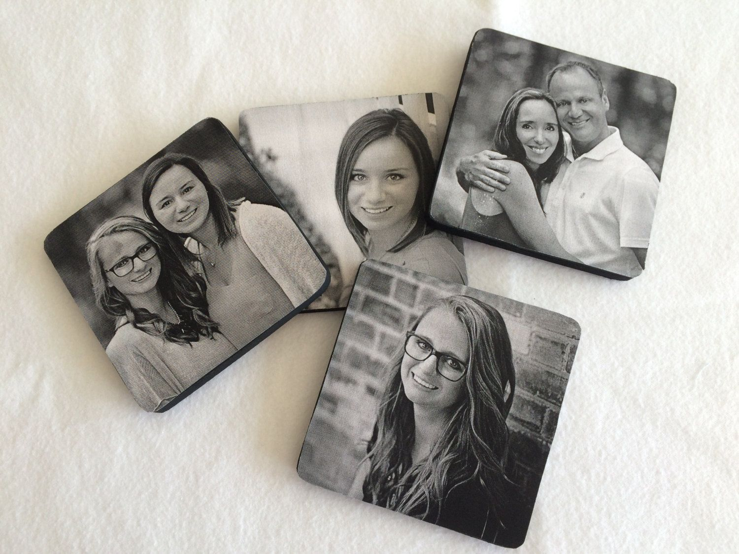Personalized Drink Coasters by YouGetThePictureShop on Etsy