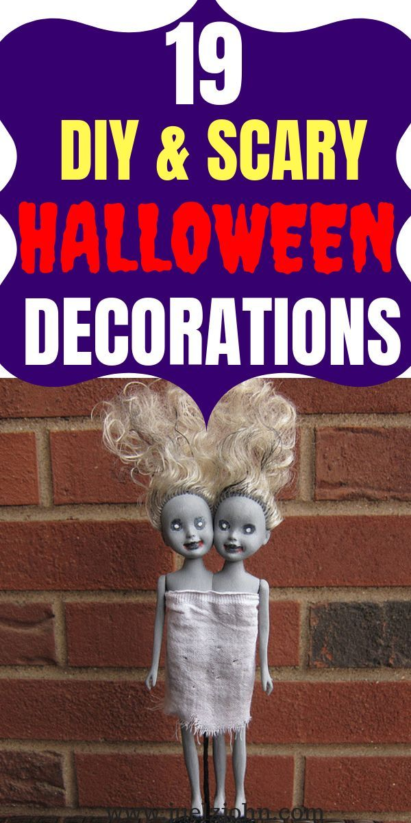 19 Simple and Cheap DIY Halloween Decorations for 2019 - juelzjohn #cheapdiyhalloweendecorations