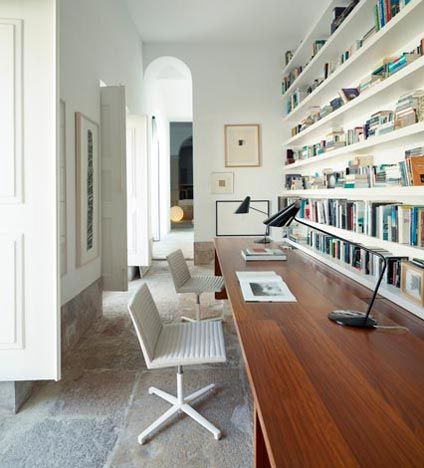 Hallway office ideas Furniture Hallway Office Office Workspace Long Hallway Cool Office Pinterest Study Counter With Needed Books One For Each Grade Love All The