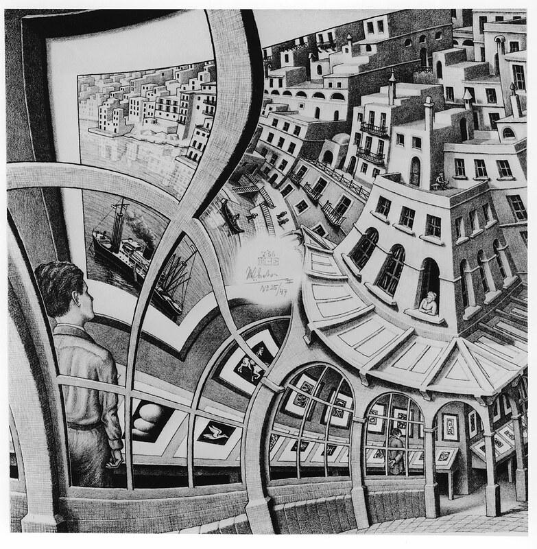 Galeria De Grabados Print Gallery M C Escher 1956 Mc Escher Arte De Escher Galerias