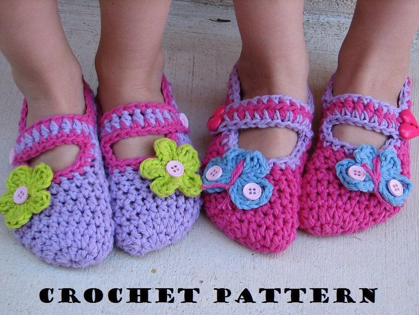 Childrens Slippers Mary Jane Slippers Crochet Pattern Pdfeasy