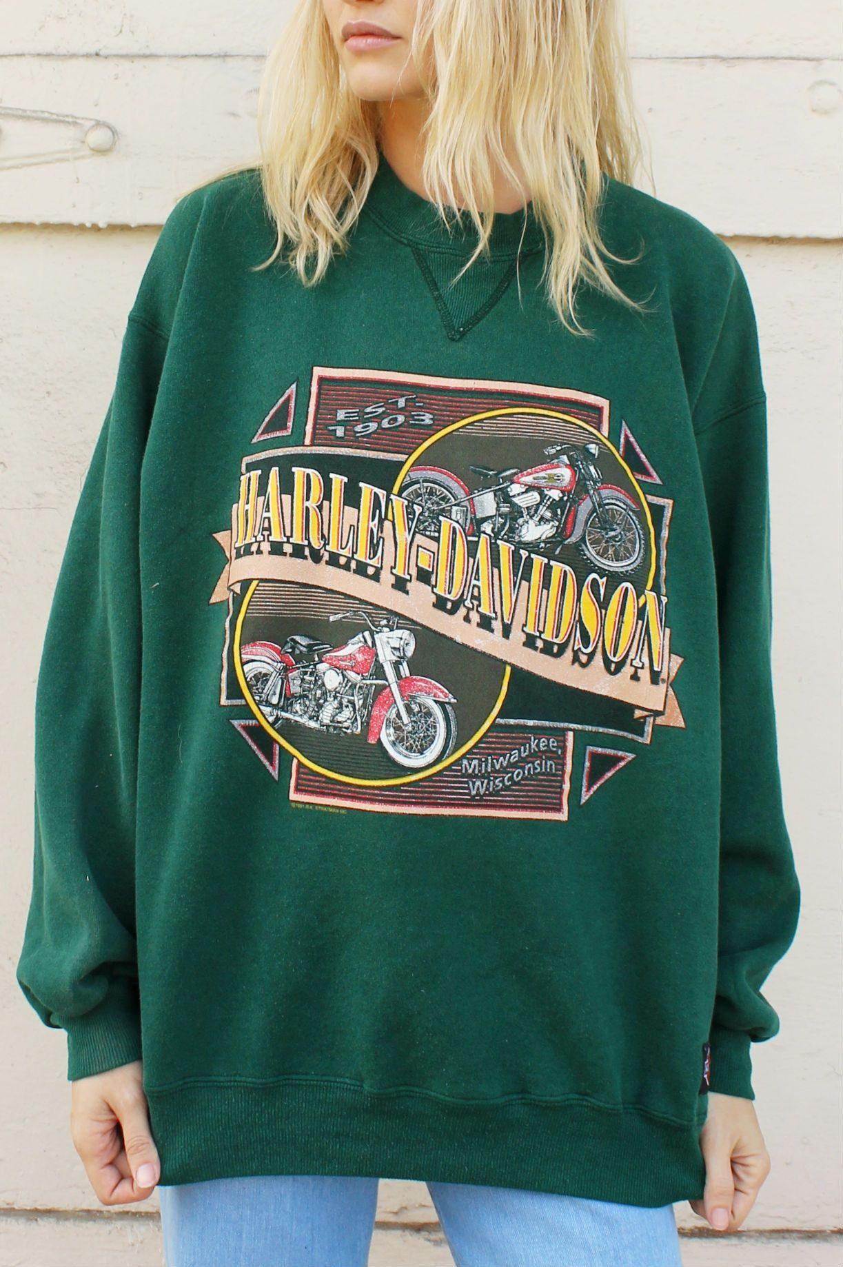 north texas vintage harley davidson sweatshirt | products
