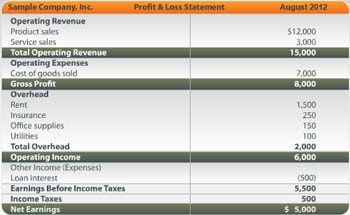 Profit And Loss Statement Free Template Profit Loss Statement