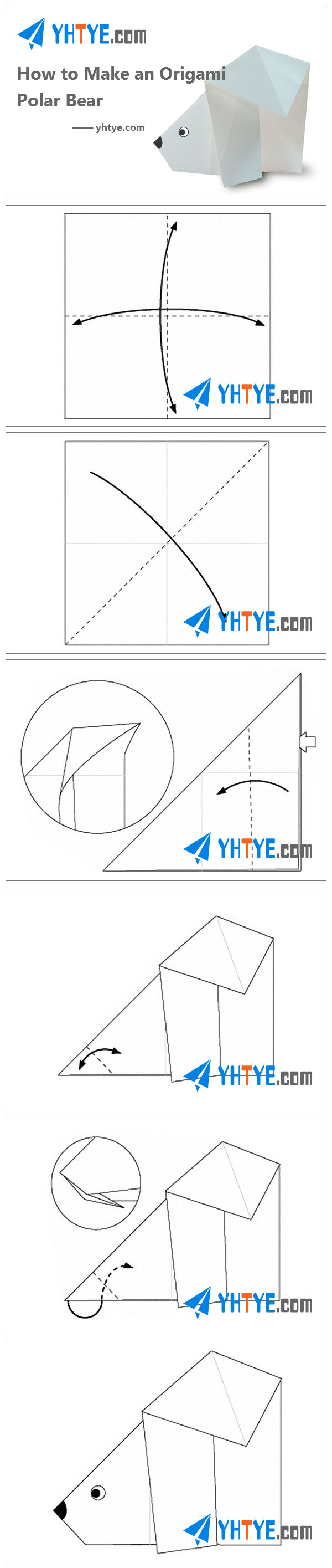 How to Make Origami Bear - Origami Polar Bear Easy Origami Animals ... | 2830x600