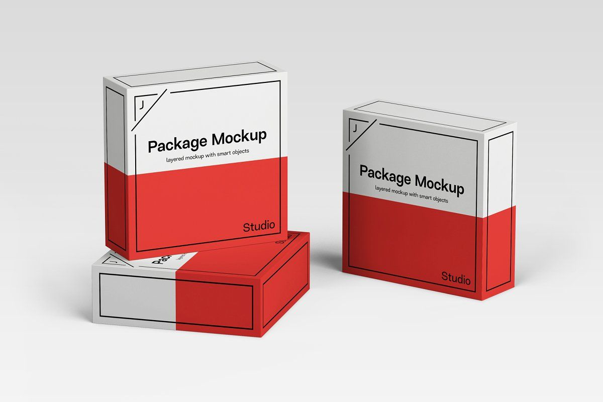 Download Package Box Mockup Scene Set Box Mockup Packaging Box Packaging