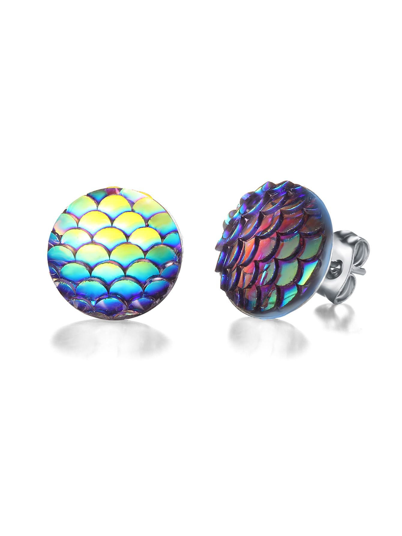2418a837a6 Shop Ombre Scale Stud Earrings online. SheIn offers Ombre Scale Stud  Earrings & more to fit your fashionable needs.
