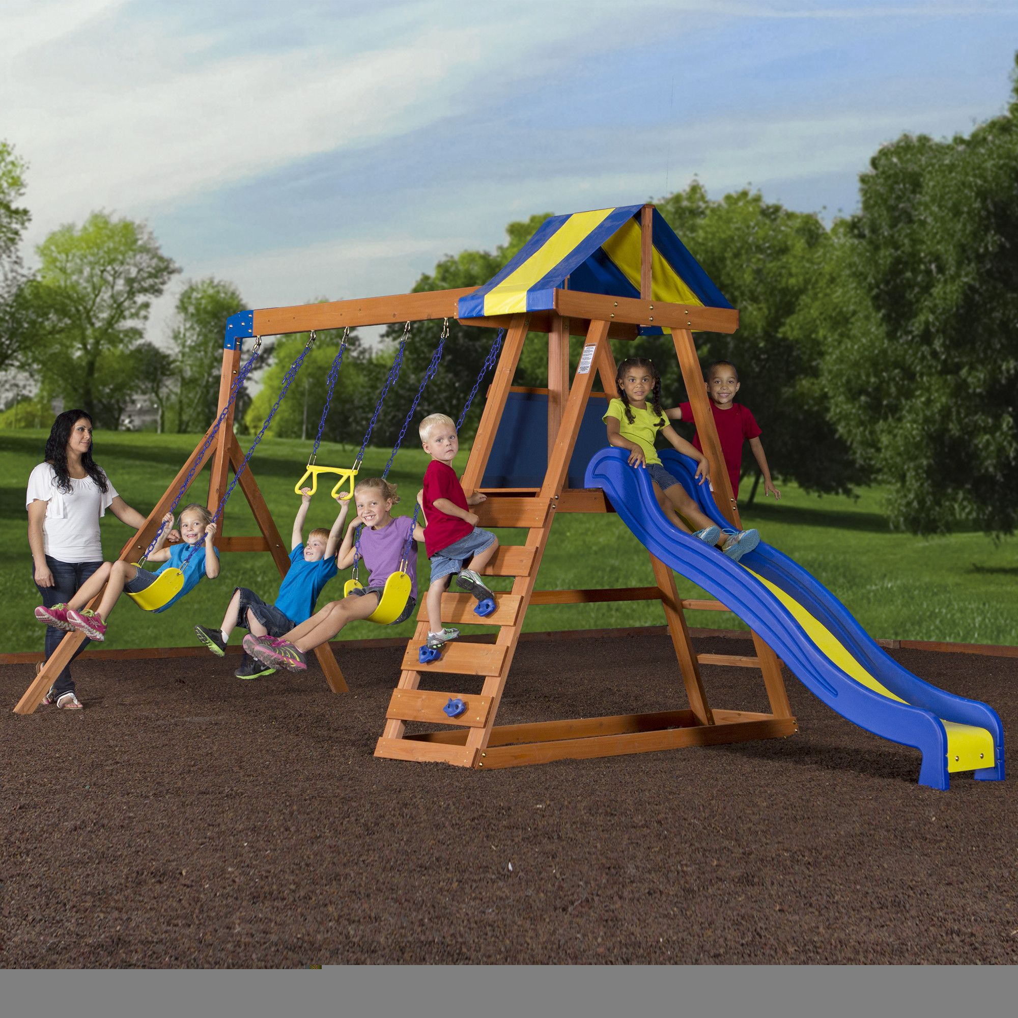 Swing sets wayfair metal amp wooden swingsets for kids - You Ll Love The Dayton All Cedar Swing Set At Wayfair Great Deals On All Baby Kids Products With Free Shipping On Most Stuff Even The Big Stuff