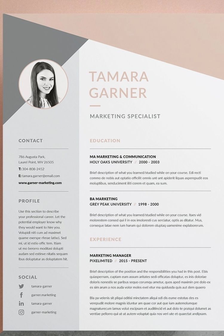Professional Resume Cv Template Welcome To Keke Resume Boutique Our Templates Are Created To The Highest Resume Templates Resume Design Creative Cv Template