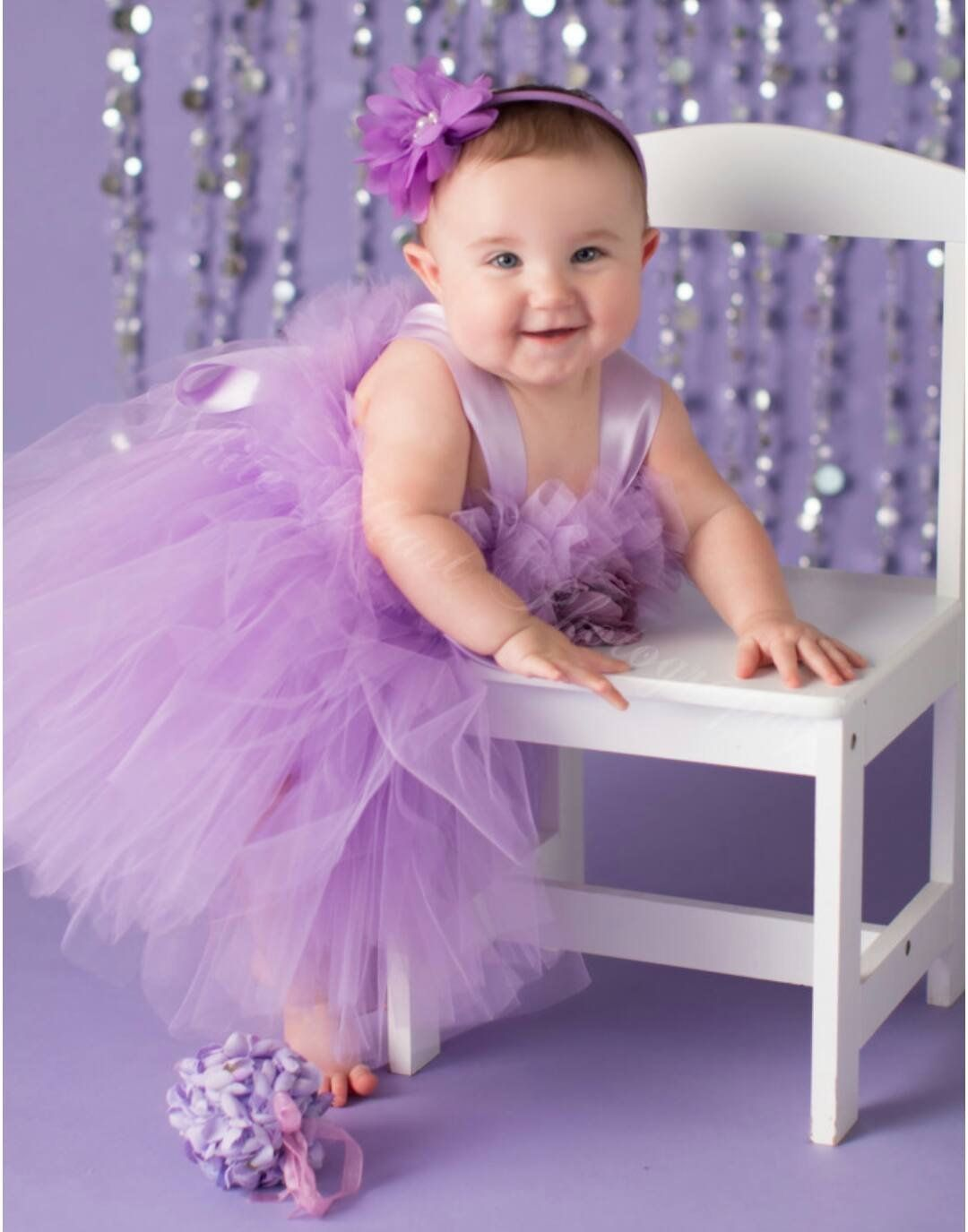 Pansy Light Purple Tutu Dress Flower Girl Gown Pageant Girl Dress First Birthday Tutu L Baby First Birthday Dress First Birthday Dresses Flower Girl Gown [ 1375 x 1080 Pixel ]