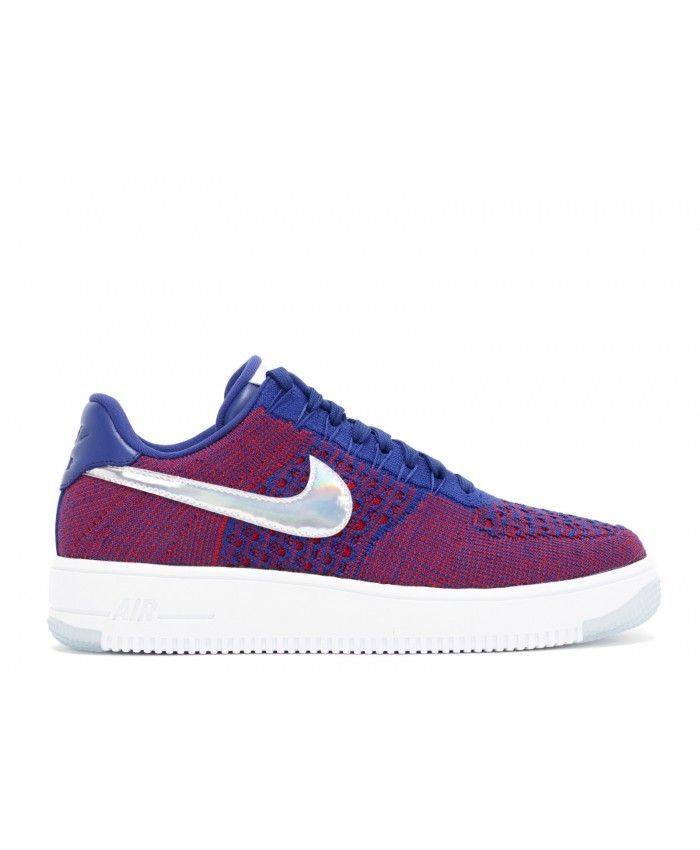 nike air force 1 purple flyknit trainers