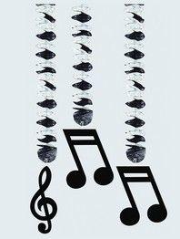 guirlandes-mariage-theme-musique | deco musique partitions | Pinterest