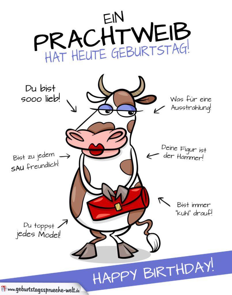 Coole Karte zum Geburtstag mit Kuh | Happy :) | Cool birthday