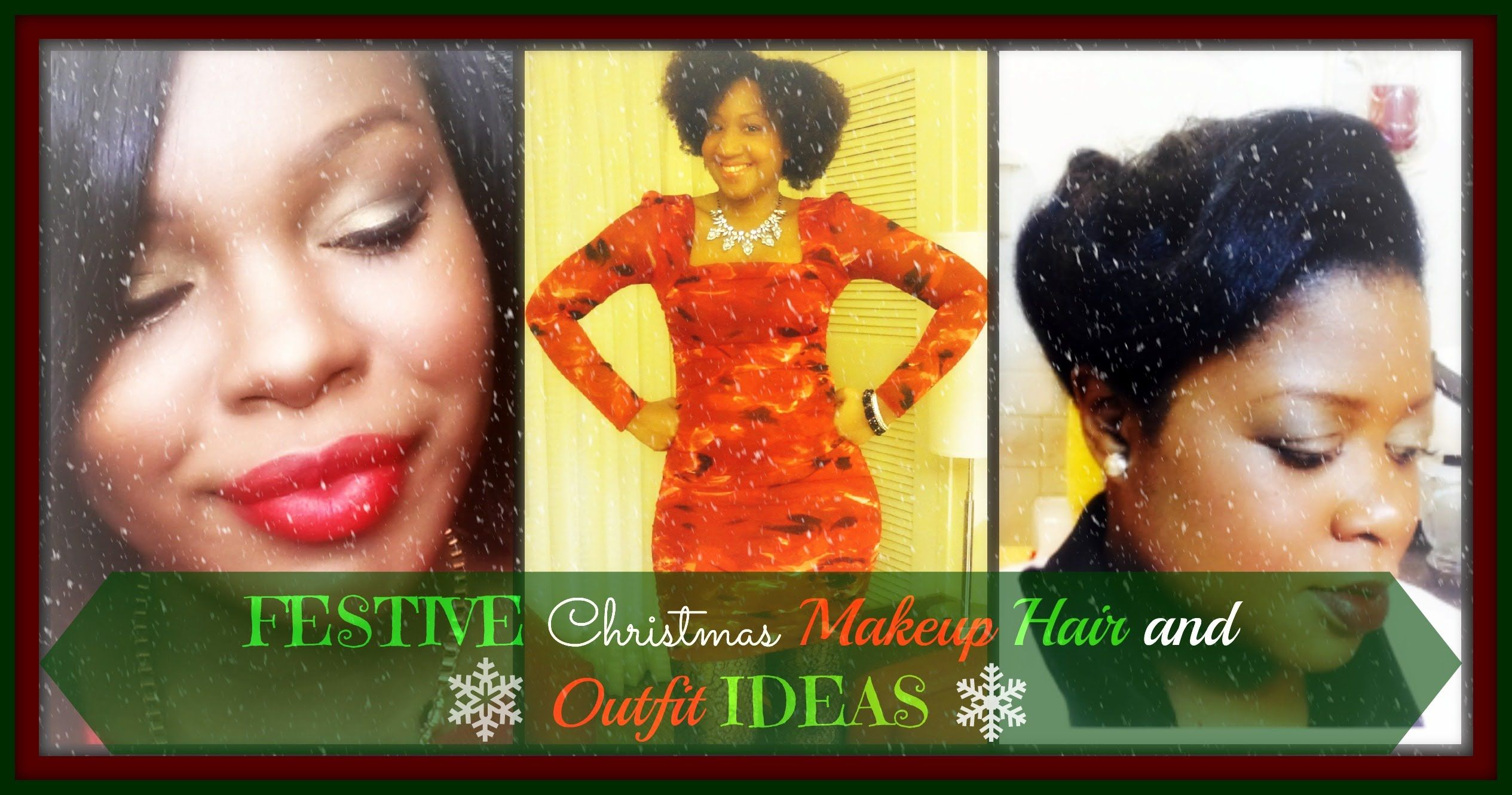 Makeup for black dress green eyes  Festive Christmas Makeup Hair u Outfit  Collab with NayNubian