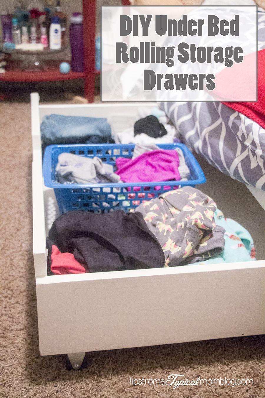 DIY Under Bed Rolling Storage Drawers. #DIY #Tutorial #StorageIdeas Part 88