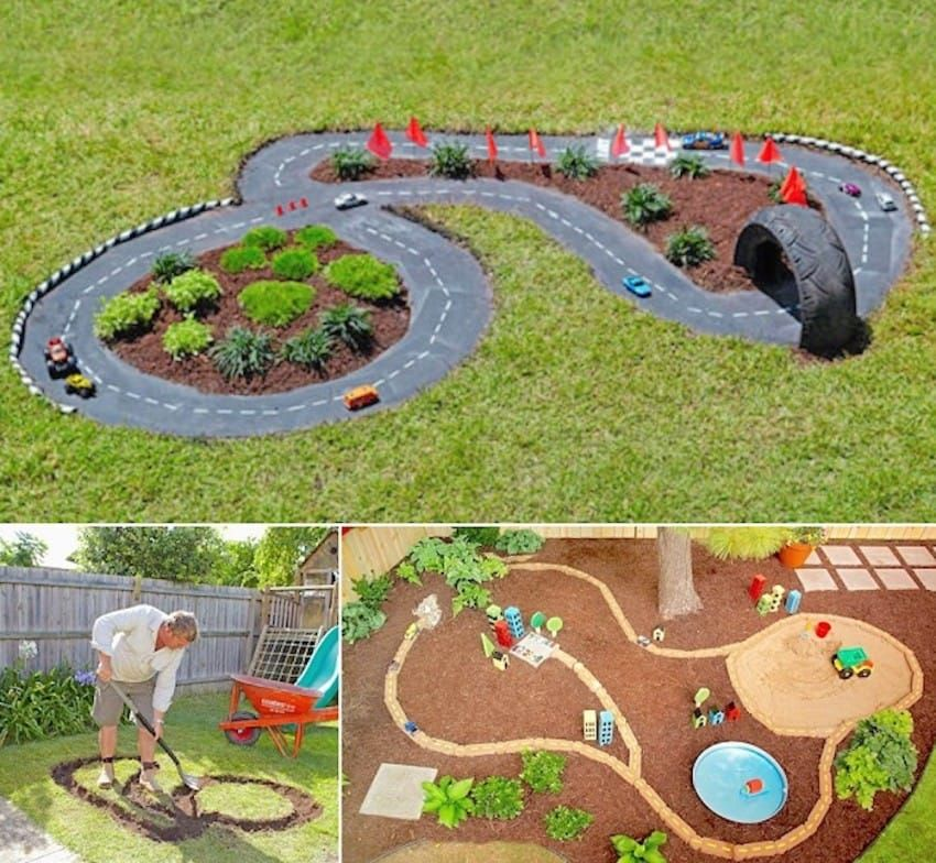 Parents Are Converting Their Backyards Into Tiny DIY Racetracks
