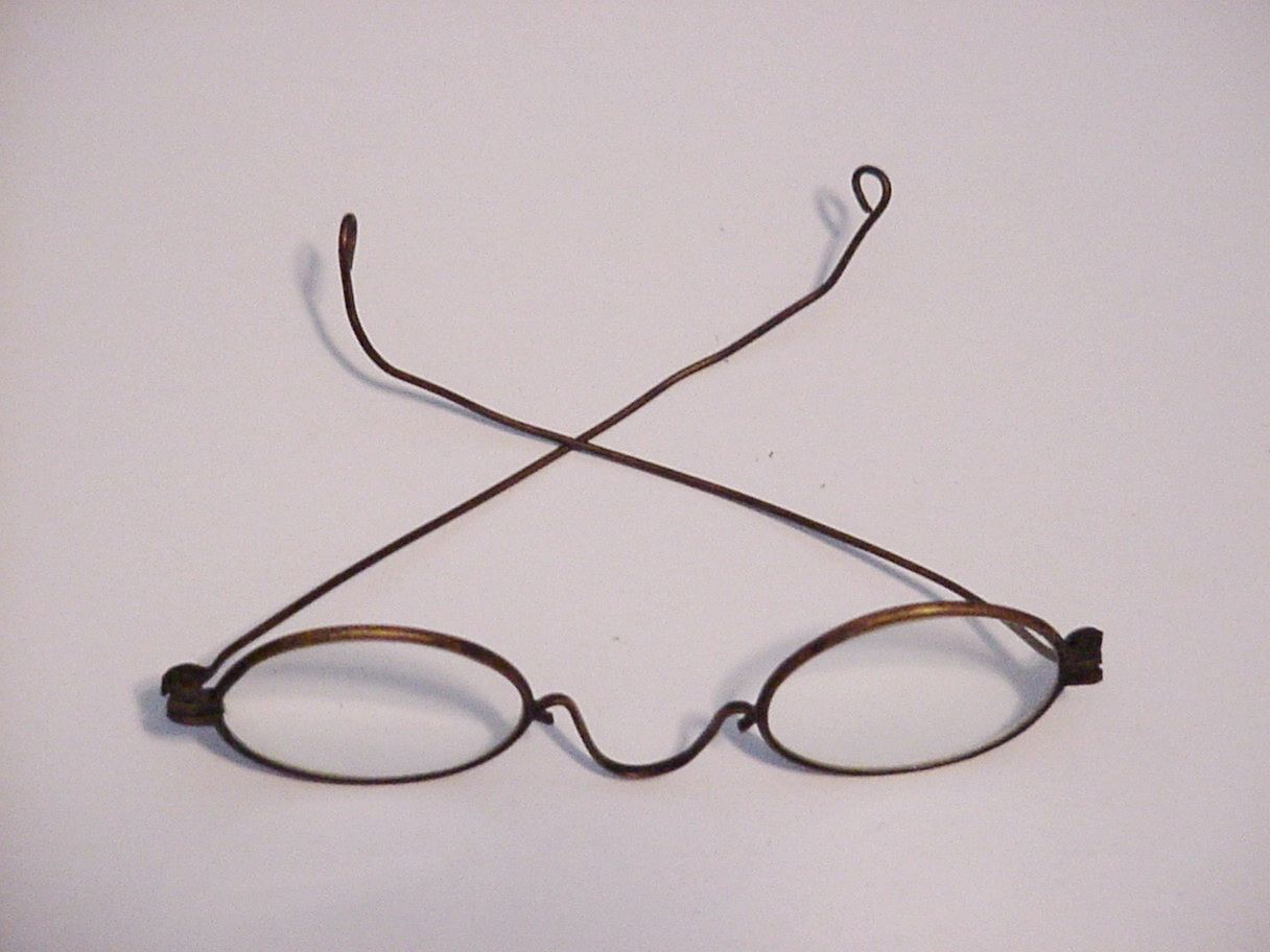 Antique Eyeglasses Frame Spectacles Eyewear Primitive -8142