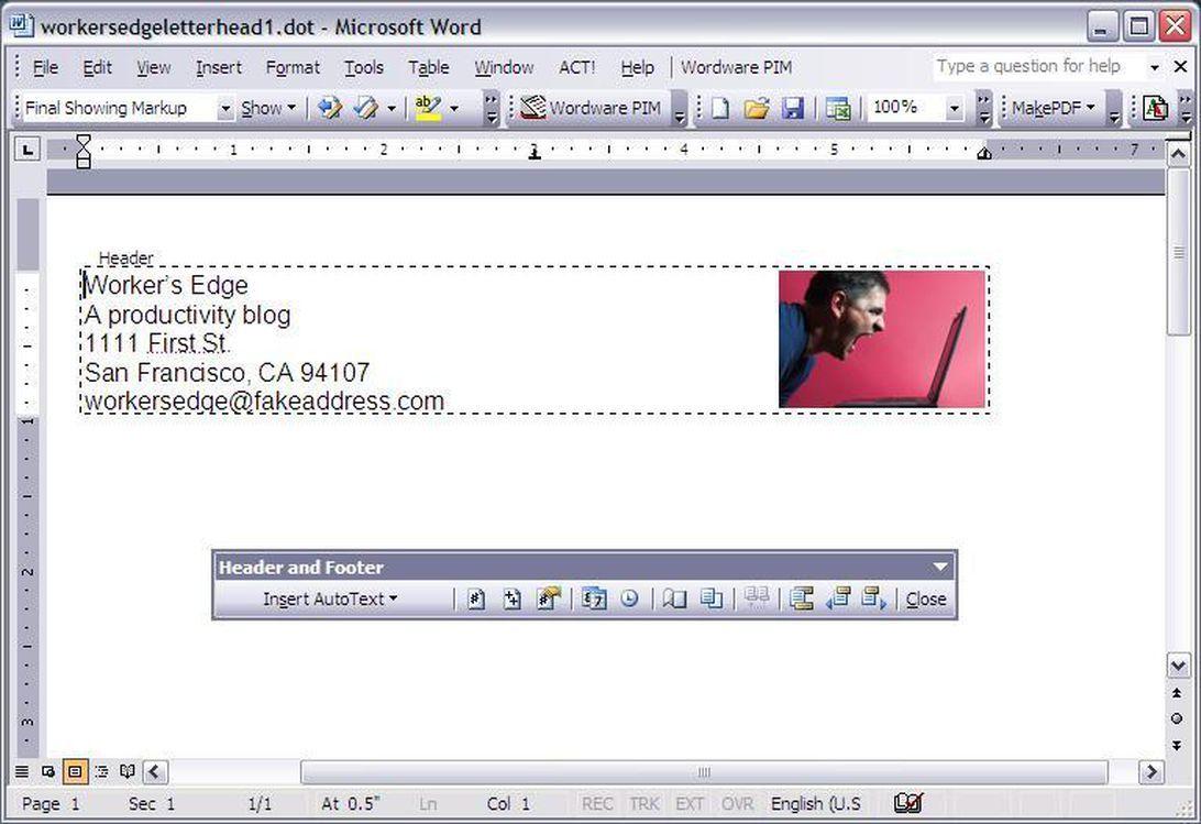 Create A Letterhead Template In Microsoft Word Cnet Regarding Header Templates For Word Prof In 2020 Letterhead Template Word Letterhead Template Create Letterhead