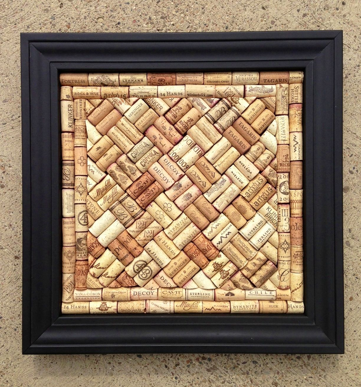 Wine Bottle Cork Board - Easy Craft Ideas