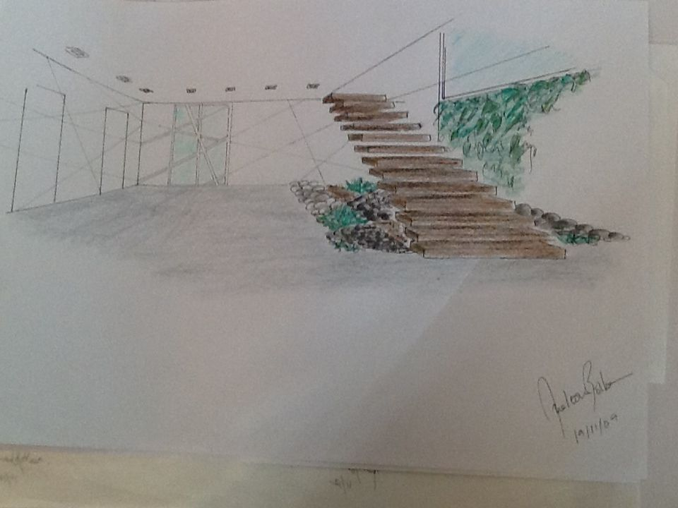 escadas Jardim vertical