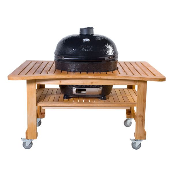 High Quality Primo Extra Large Oval Kamado Grill With Teak Table
