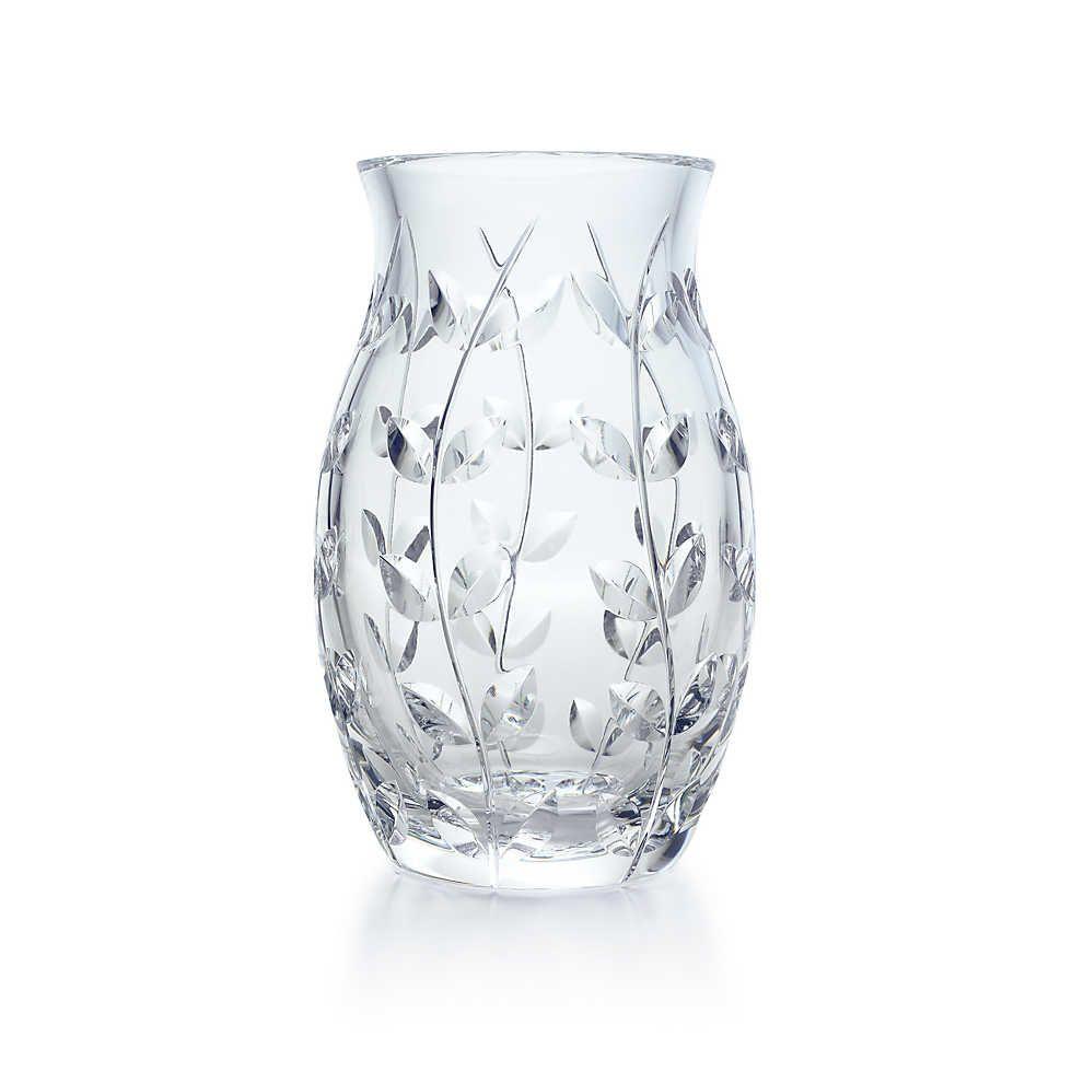 Tiffany Co Floral Vine Tulip Vase Tulips In Vase Vase Crystal Figurines