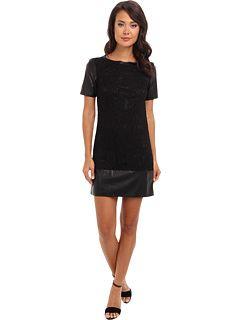 Laundry by Shelli Segal Black Lace T-Shirt Dress $148