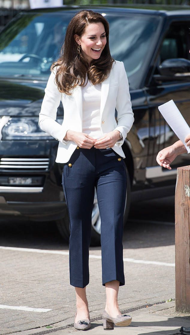 41c034e7671 Kate Middleton from The Big Picture  Today s Hot Photos Casual Kate! The  Duchess wears a pair of cropped slacks during an outing in London.