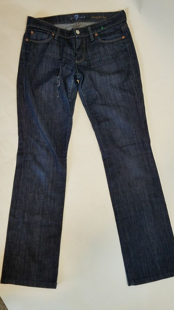 7 For All Mankind Womens Jeans Blue Straight Leg Size 26