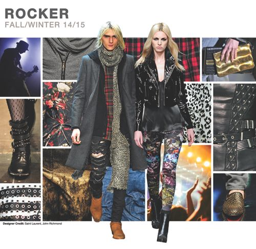 Top women's and menswear trends, F/W 2014-15, rocker