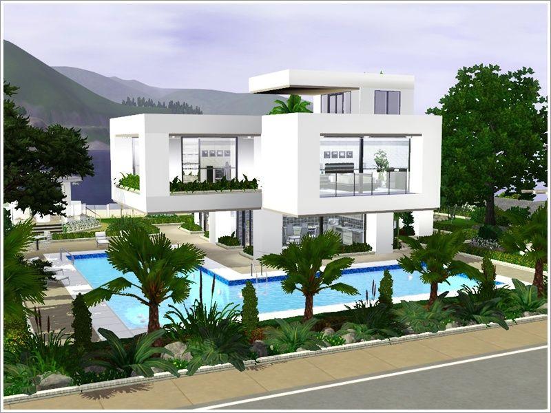 Villa grundriss sims 3  Sims 3 Updates - Sims TR: Modern Modular Villa by denizzo_ist ...