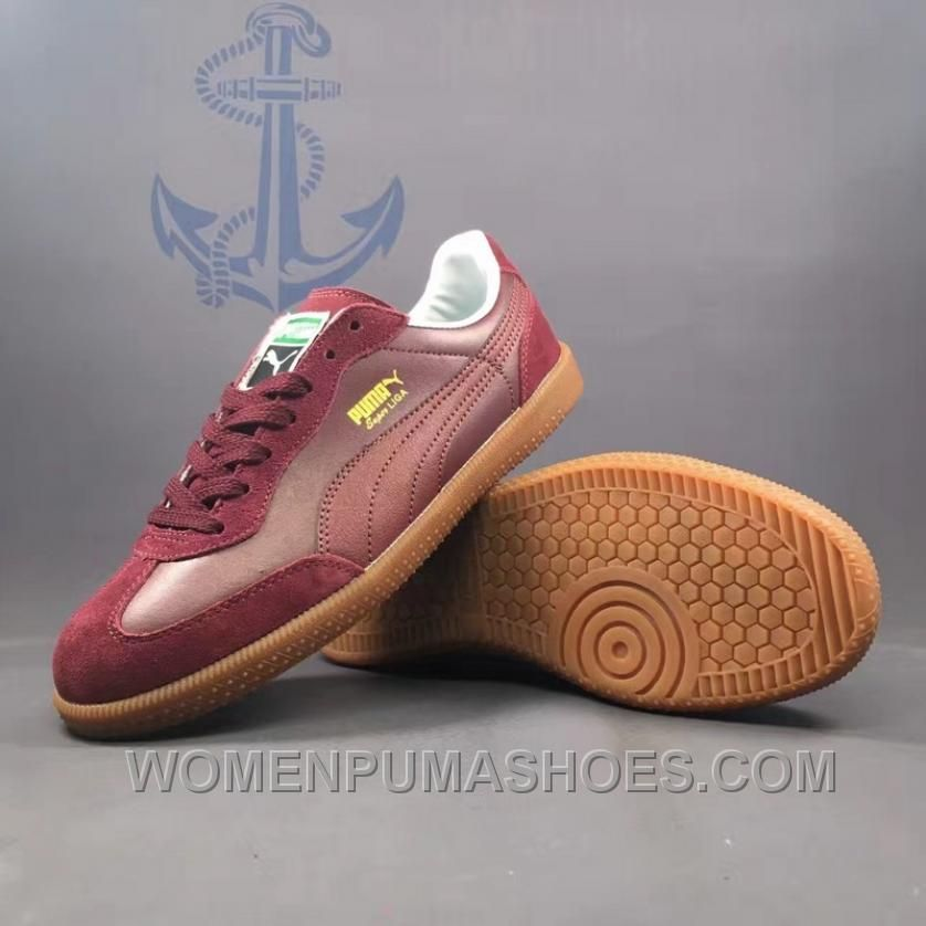 b15b285d801 PUMA Super Liga OG Retro 40-44 Men Burgundy New Release JQsAh, Price:  $88.90 - Women Puma Shoes, Puma Shoes for Women