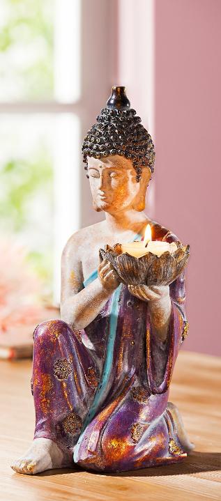 Dekofigur Buddha Mit Teelichthalter Bestellen Weltbild De In