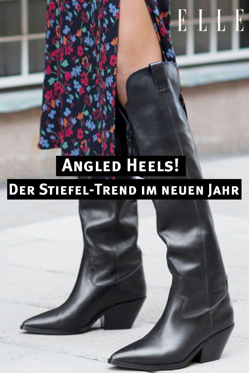 Angled Heels: der neue Stiefel Trend im Jahr 2019 | Stiefel