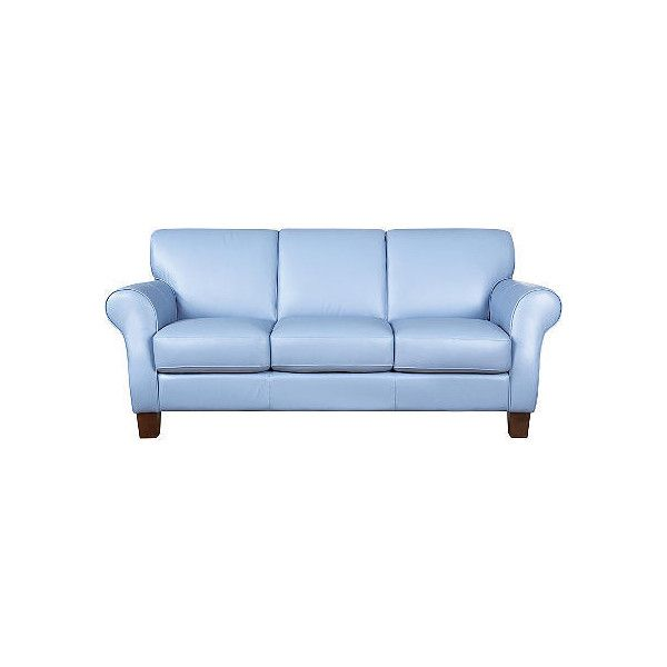 Molina Blue Leather Sofa :: Rooms To Go - Sofas found on Polyvore ...