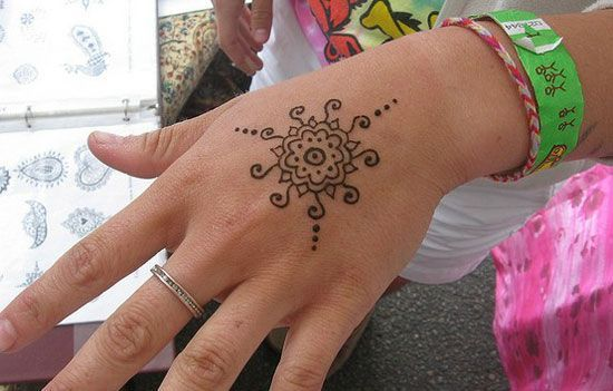 Simple Henna Tattoo On Hand Simple Henna Tattoo Henna Tattoo