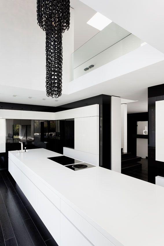 Black White Kitchen Black Kitchens Futuristic Interior Design