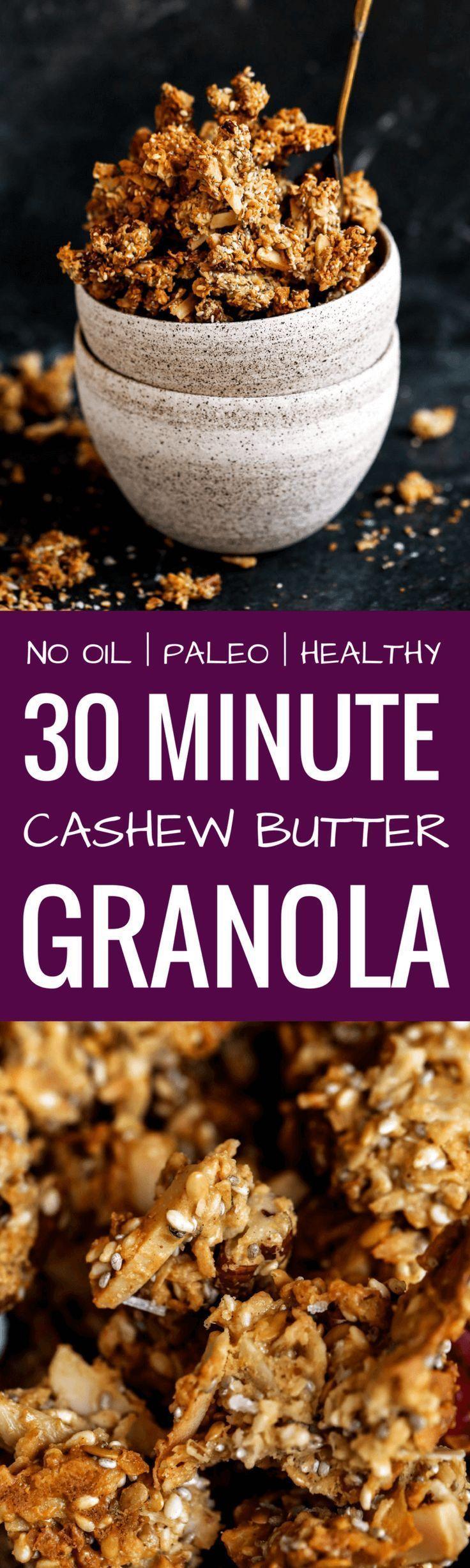 Sea Salt Cashew Butter Paleo Granola | Recipe | Paleo ...
