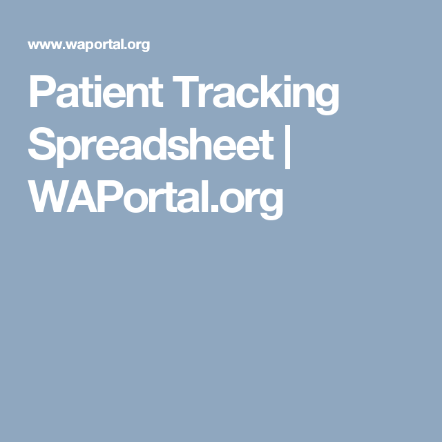 patient tracking spreadsheet