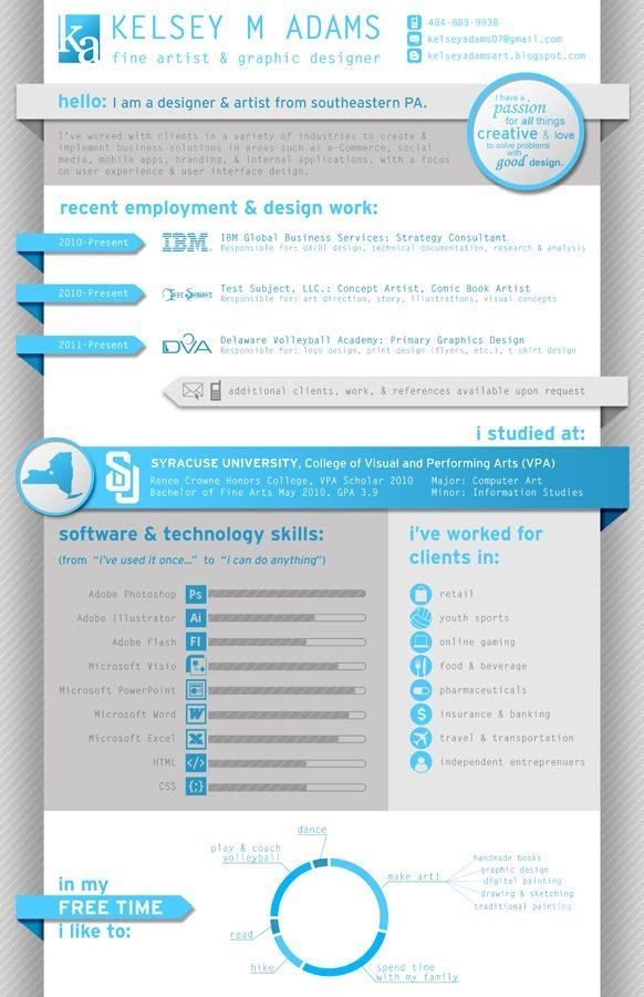 Resume infographic : infographic resume for IT Google Search ...