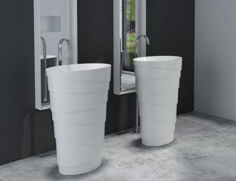 Freistehendes Waschbecken aus Mineralguss PB2192 ATHENE