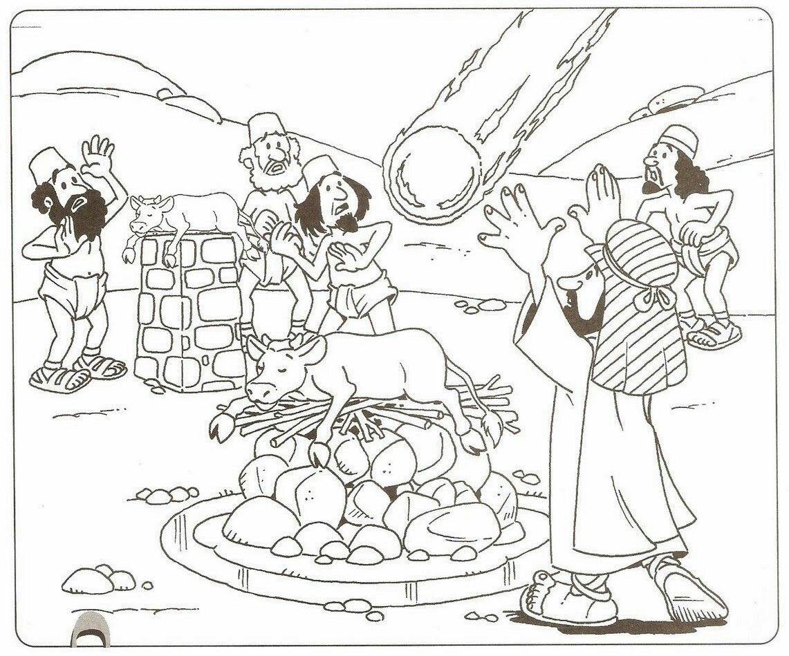 Elias y los profetas de Baal | Escuela dominical | Pinterest | El ...