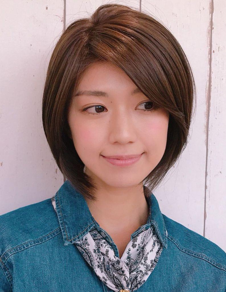大人かわいい前髪長めのショートボブ(YK−297) | ヘアカタログ ...