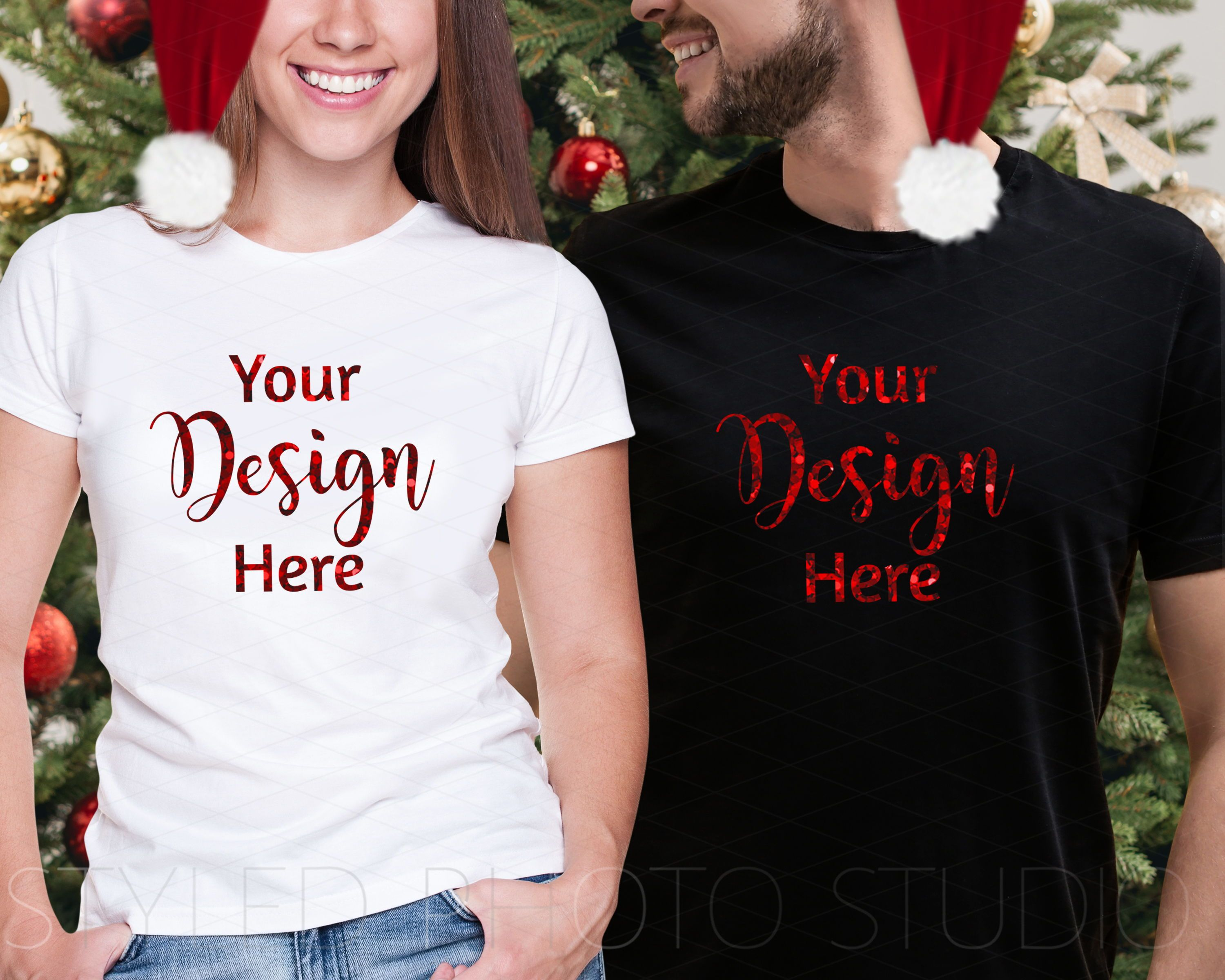 Download Tshirt Mockup Black And White For Him And Her Shirt Mockup Digital Design T Shirts For Women