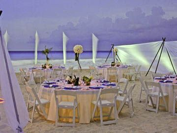 Beautiful Underlit Tables Perfect For Moonlight Weddings