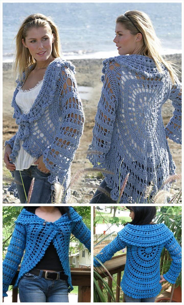 12 free crochet patterns for circular vest jacket free crochet 12 free crochet patterns for circular vest jacket bankloansurffo Choice Image