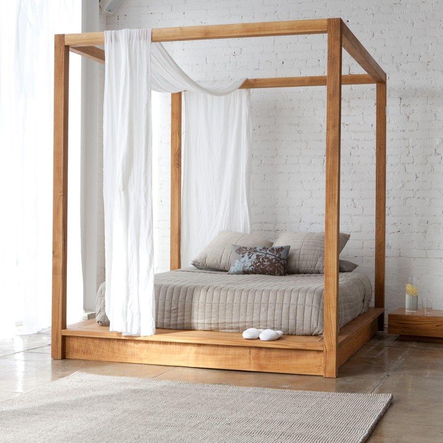 Cama con dosel madera | Pinterest | Camas con dosel, Camas y Consejos