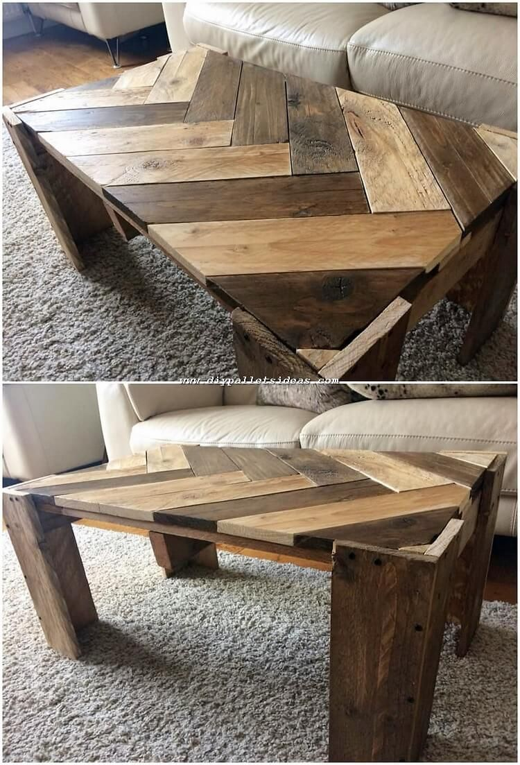 Installing A Stylish Chevron Table In Your House Is Always The Best Option When It Comes Wood Furniture Diy Diy Wood Projects Furniture Wooden Pallet Projects
