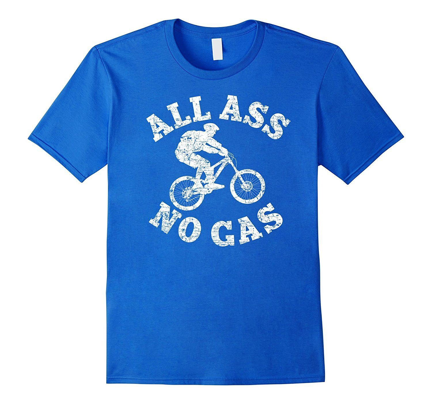 Mountain Bike Shirt: Funny MTB All A. No Gas Rider Gift
