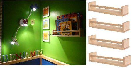 Amazon.com: Ikea 4 Wooden Spice Rack Nursery Book Holder Kids Shelf Kitchen Bathroom Accessory Storage Organizer Birch Natural Wood Bekvam: Home & Kitchen